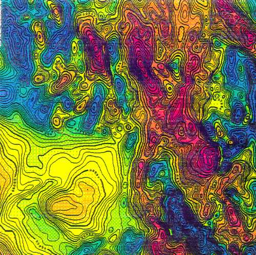 Typical colour contour map